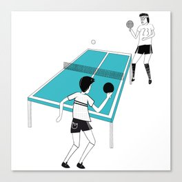 Ping Pong Game Canvas Print