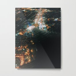 Flying in Rain Metal Print
