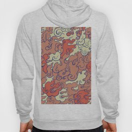 Abstract Fire Red Tones Hoody