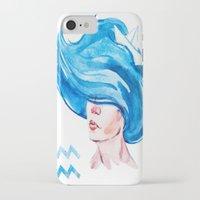 aquarius iPhone & iPod Cases featuring Aquarius by Aloke Design