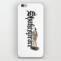 shakespeare iPhone & iPod Skins featuring Shakespeare by Matthew Morris