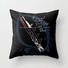 Titanic Throw Pillow