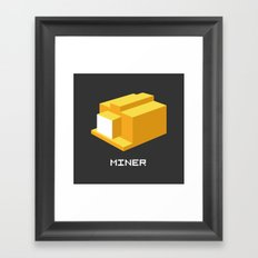 Miner Framed Art Print