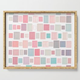Abstract Pink Pattern Frames Serving Tray