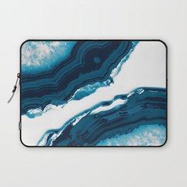 Blue Agate #1 #gem #decor #art #society6 Laptop Sleeve