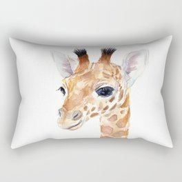 Baby Giraffe Cute Animal Watercolor Rectangular Pillow
