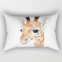 Baby Giraffe Cute Animal Watercolor Rectangular Pillow