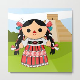 Maria 4 (Mexican Doll) Metal Print