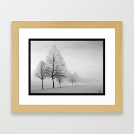 Fading Trees Framed Art Print
