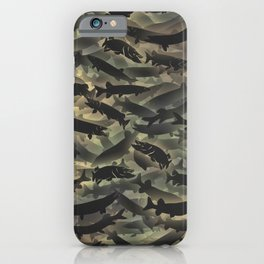 Pike fish camouflage iPhone Case