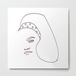 Eartha Kitt - White Metal Print