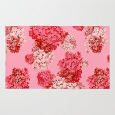 hydrangea (doubled) Rug