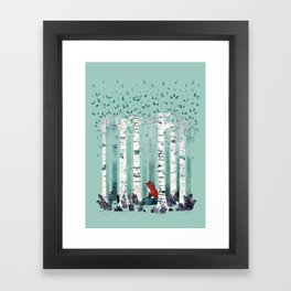 The Birches Framed Art Print