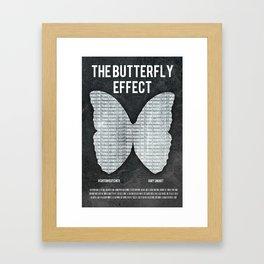 the butterfly effect film poster Framed Art Print