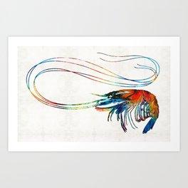 Colorful Shrimp Art by Sharon Cummings Art Print