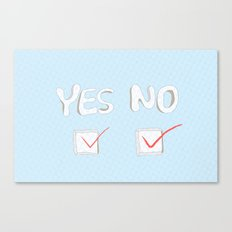 Yes No Canvas Print