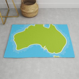 map of Australia Continent and blue Indian Ocean. Vector illustration Rug