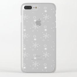 Snowflakes (White) Clear iPhone Case