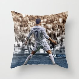 cr7 clebration Throw Pillow