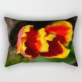 Flame Parrot Tulip by Teresa Thompson Rectangular Pillow