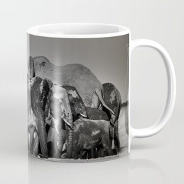 Elephant Herd Circling Coffee Mug