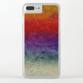 The dark cloths of night and light and the half-light Clear iPhone Case