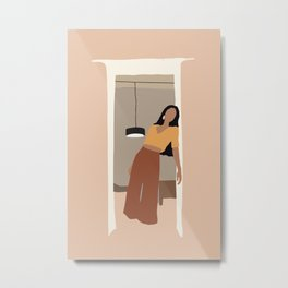 Abtsract WOMAN AT HOME Metal Print