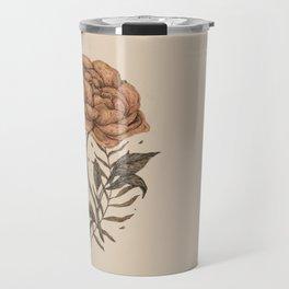 Peony and Ferns Travel Mug