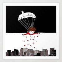 Flying Monday Art Print