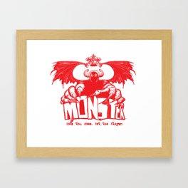 Game monster  Framed Art Print