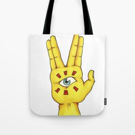 The hand that sees everything Tote Bag