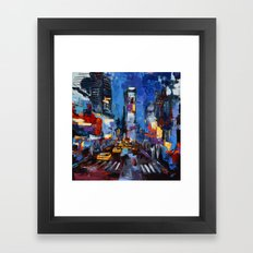 Saturday Night in Times Square Framed Art Print