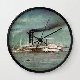 Steamboat Robert E. Lee Painting Wall Clock
