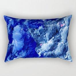 Abstración Océanica Azul Rectangular Pillow