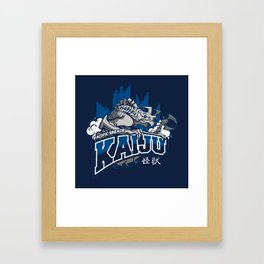 Pacific Breach Kaiju Framed Art Print