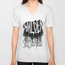 Walden (Black & White) Unisex V-Neck
