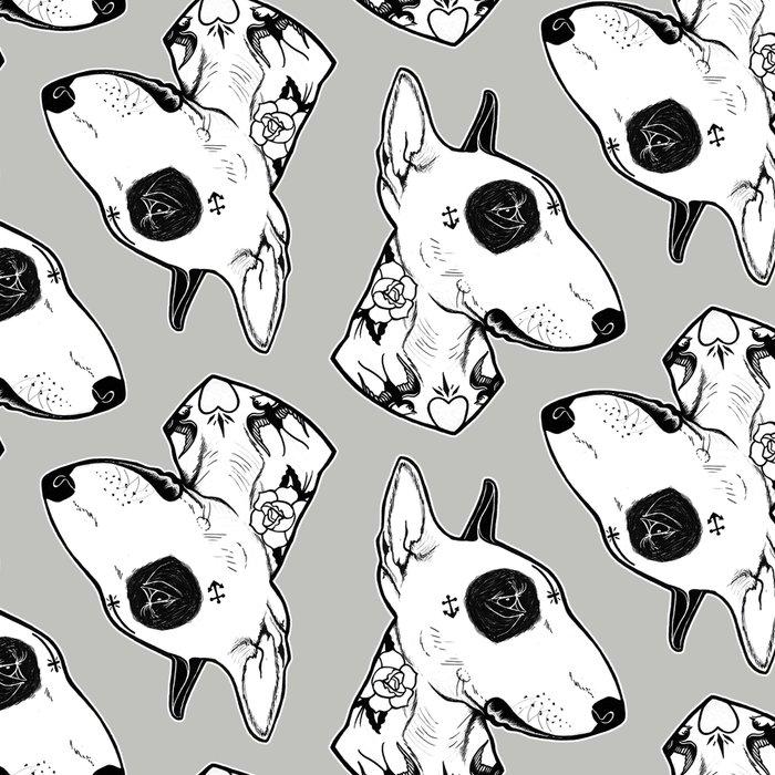 Bull Terrier dog Tattooed Leggings