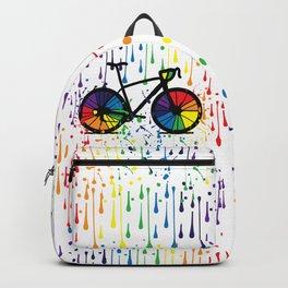 Rainbow raindrops Backpack