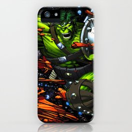 green rampage iPhone Case