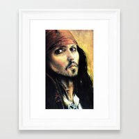 infamous Framed Art Prints featuring Infamous Pirate by LaFaimArtiste