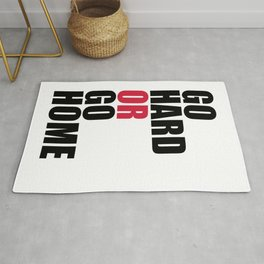 Go Hard Gym Quote Rug