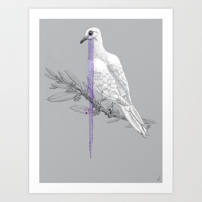 When Doves Cry Art Print