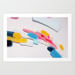 Even After All  #3 - Abstract on perspex by Jen Sievers Art Print