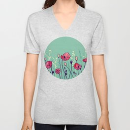 Summer Field Unisex V-Neck
