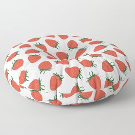 Strawberry Red Pattern Floor Pillow