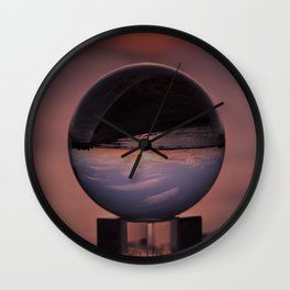 Wispy Clouds In A Crystal Ball Wall Clock