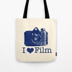 I ♥ Film (Blue/Peach) Tote Bag