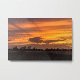 Sunset at RSPB Strumpshaw Fen Metal Print
