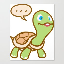 Thinking Turtle Canvas Print