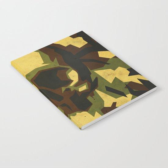 Camouflage skull Notebook